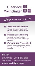 Firmenflyer von IT service Mächtlinger als PDF-Download