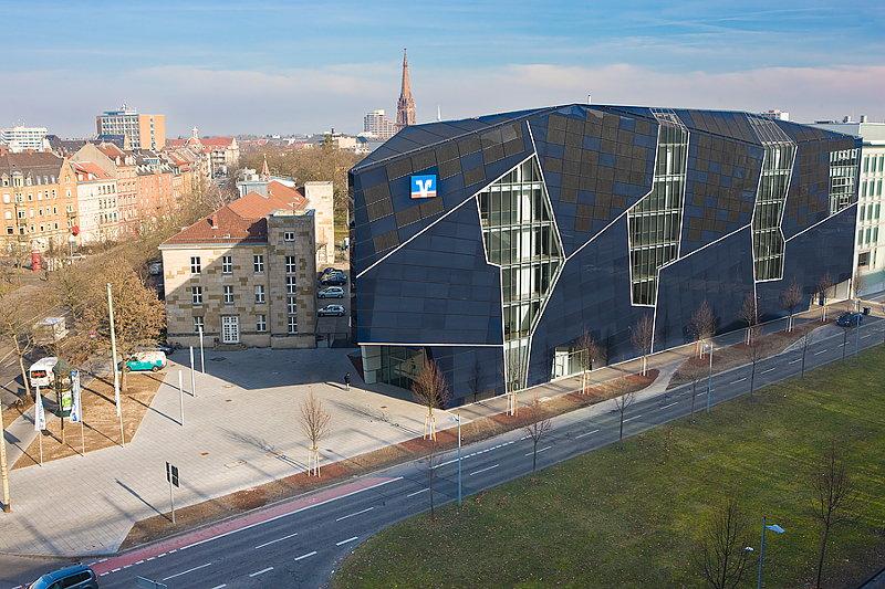 Volksbank Karlsruhe - Hauptgebäude in der Ludwig-Erhard-Allee 1