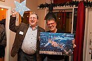 Im Rahmen des DurlacherLeben-Forums am 28. November 2017 wurde Günter Widmann (l.) durch den 1. Vorsitzenden der Wirtschaftsvereinigung, Schahryar Essari (r.), für sein Engagement gedankt. Fotos: cg