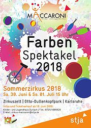 "Sommerzirkus ""Maccaroni's Farbenspektakel"". Grafik: pm"