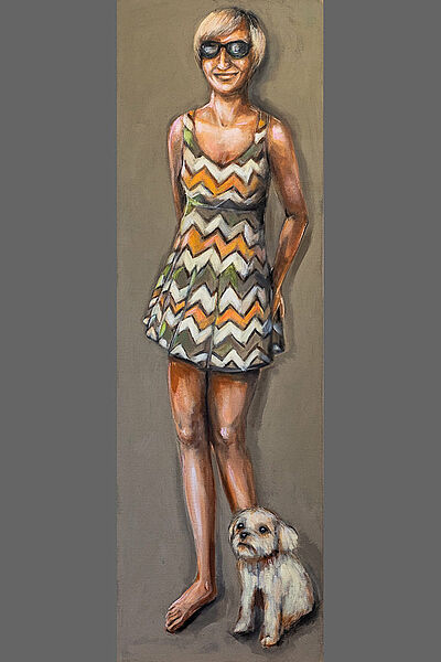 "Vera Holzwarth, ""Steffi"", Acryl auf Leinwand, 50 x 160 cm, 2020. Foto: zettzwo"