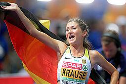Gesa Felicitas Krause wird in Karlsruhe über 1.500 Meter starten. Foto: Chai