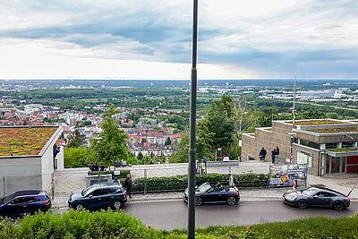 Aussichtsterrasse auf dem Durlacher Turmberg. Foto: cg