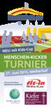 Menschen-Kicker-Turnier 2015 | Flyer