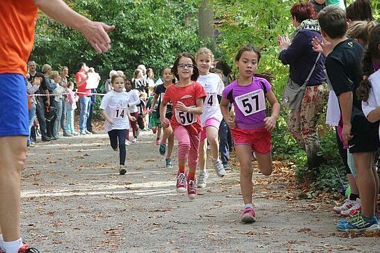 03 Turmberglauf: Kinderlauf - Etwa 350 Kinder in verschiedenen Altersklassen nahmen am Kinderlauf im Schlossgarten teil. (99 Fotos)