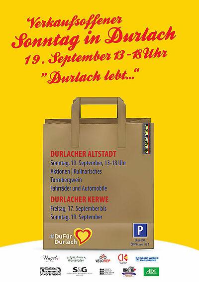 Verkaufsoffener Sonntag 2021 in Durlach. Grafik: durlacherleben