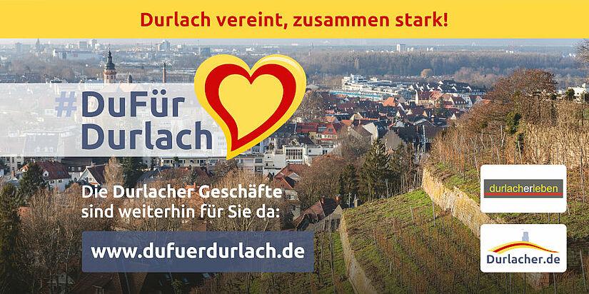 #DuFürDurlach – Durlach vereint, zusammen stark! Grafik: cg