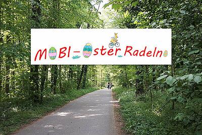 Mit dem Mobi-Oster-Radeln die Umgebung entdecken und Spaß dabei haben. Foto: cg / Grafik: pm