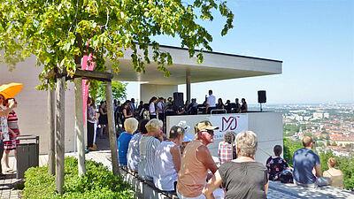 Terrassenkonzert am Turmberg. Foto: Musikforum Durlach