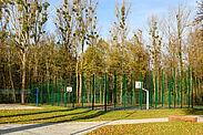 Neue Sportanlage in der Untermühlsiedlung. Fotos: cg