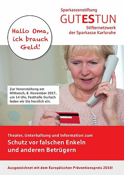 """""""Hallo Oma, ich brauch Geld!"""" Grafik: pm"""