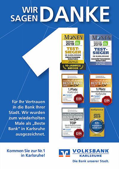 """Beste Bank"" in Karlsruhe. Grafik: pm"