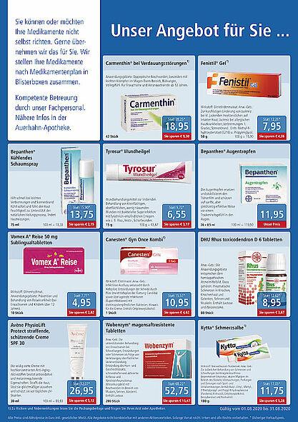 Rundum gesund Apotheken: Angebote im August 2020. Grafik: pm