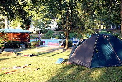 Das Wölfle-Zeltcamp findet auch in dieser Saison statt. Fotos: pm