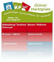 Grüner Marktplatz – nachhaltiger Konsumführer für Karlsruhe. Grafik: Stadt Karlsruhe