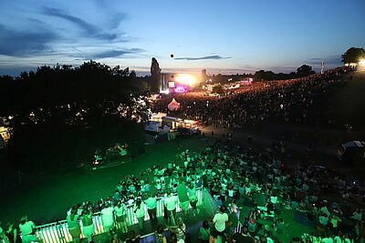 Beeindruckend: Blick auf den Hügelbereich bei DAS FEST. Fotos: cg