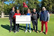 25.000 Euro für den guten Zweck! Das Organisationsteam des 3. Durlacher Business Golf Cups ist stolz auf das Rekordergebnis. Foto: pm