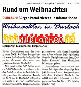 Wochenblatt vom 19. November 2008