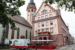 Wochenmarkt Durlach. Foto: cg