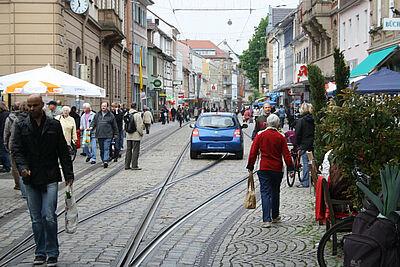 Von wegen Fußgängerzone. Foto: jow/wobla