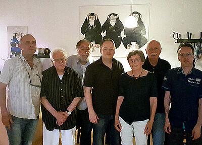 Die Gründungsmitglieder des AK Stadtbild Durlach (v.l.): Pitt Nordwig, Jürgen Leitz, Ullrich Müller, Robin Cordier, Barbara Schmalenbach, Günther Malisius, Mirko Felber. Foto: pm
