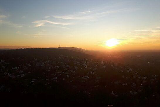 29 Sonnenuntergang auf dem Turmberg - Der letzte Sonntag in 2019 hat seinen Namen alle Ehre gemacht – Momentaufnahmen vom Turmberg. (10 Fotos)