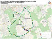 Sperrung der L 623 in Palmbach. Grafik: pia