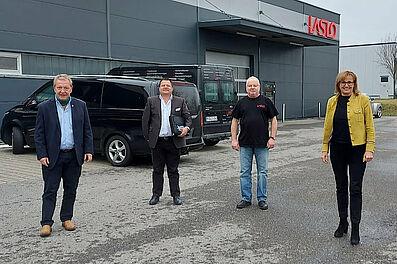 Staatssekretärin Schütz besucht KA-PF-Quartett. Foto: Wingerath