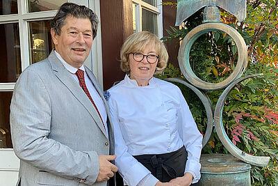 Anita und Gérard Jollit bereicherten vier Jahrzehnte lang die Durlacher Gastro-Szene mit ihrer exzellenten französischen Küche. Foto: pm