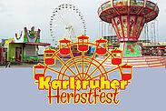 """""""Karlsruher Herbstfest"""" bis zum 11. Oktober auf dem Messplatz. Foto: cg / Grafik: pm"""