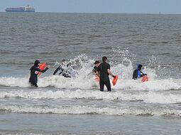 Fachausbildung Wasserrettung, Wangerooge 2010. Foto: pm