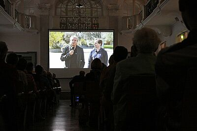 Multimediavortrag von Samuel Degen (l.) und Dr. Jan-Dirk Rausch in der Karlsburg (2013). Foto: cg