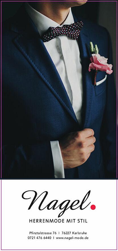 Hochzeitsmode bei Nagel. Grafik: pm