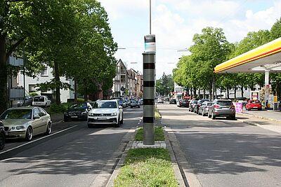 Nachts besteht in der Grötzinger Straße (Höhe Tankstelle) bereits ein Tempolimit von 30 km/h. Foto: om