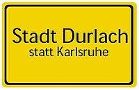 Stadt Durlach - statt Karlsruhe