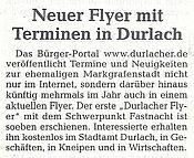 Stadtzeitung Karlsruhe | 04. Februar 2011