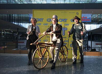 Karl Drais hat mit seiner Draisine Pionierarbeit geleistet. Foto: LMK/KEG