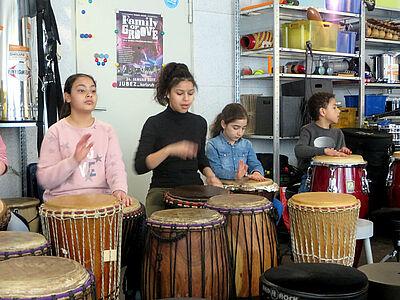 Workshop im Rhythmus-Studio von Pedro Weiss. Foto: pm
