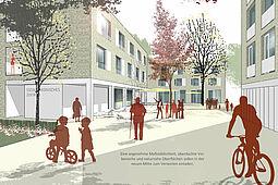 Visualisierung des Siegerentwurfs. Grafik: Bodamer Faber Architekten BDA PartGmbB