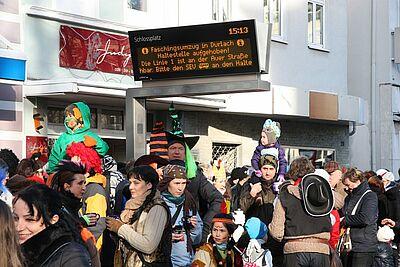 Fastnachtsumzug in Durlach: Schienenverkehr eingeschränkt. Foto: cg