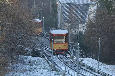 Die Turmbergbahn im Winter. Foto: cg