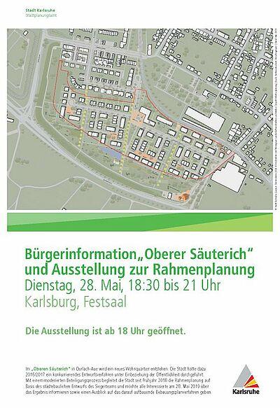 """Einladung zur Bürgerinformation """"Oberer Säuterich"""". Grafik: pia"""