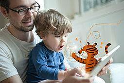 """""""TigerBooks"""" animiert zum Lesen und Vorlesen. Foto: tigermedia Deutschland GmbH"""