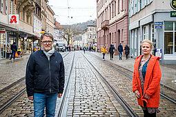 """Setzen sich mit viel Elan und Engagement für Durlach ein: Vorstand Scharyar Essari und Meike Eberstadt von """"Durlacherleben"""". Foto: cg"""