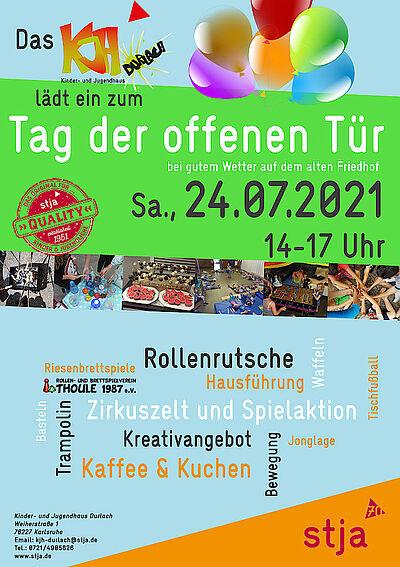 Tag der offenen Tür im KjH: Kreativangebote, Kaffe und Kuchen. Grafik: pm