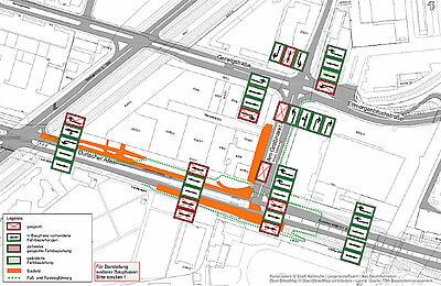 Bauphasenplan bis 18. März 2020. Grafik: Stadt Karlsruhe