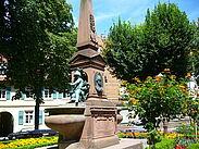 Der Hengstbrunnen am Durlacher Hengstplatz. Foto: cg