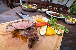 Eine Spezialität: Steaks. Foto: cg