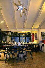 hubRaum Durlach – Innenbereich des Restaurants. Foto: pm