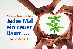 Volksbank: Jedes Mal ein neuer Baum...Grafik: pm